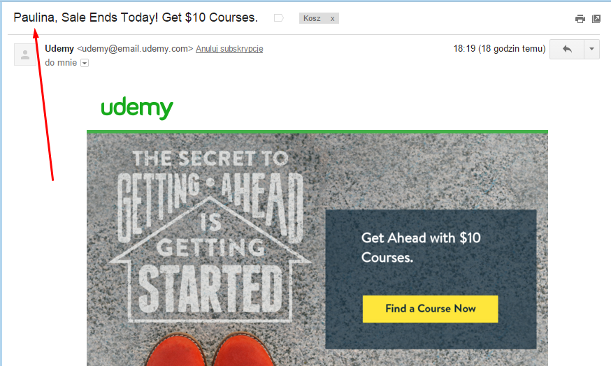 udemy mail