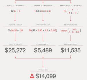 Infografika Hubspot na temat CLV