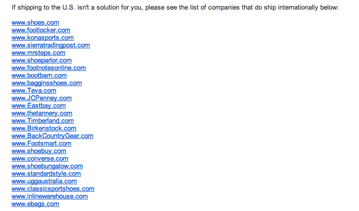Mail od Zapposa