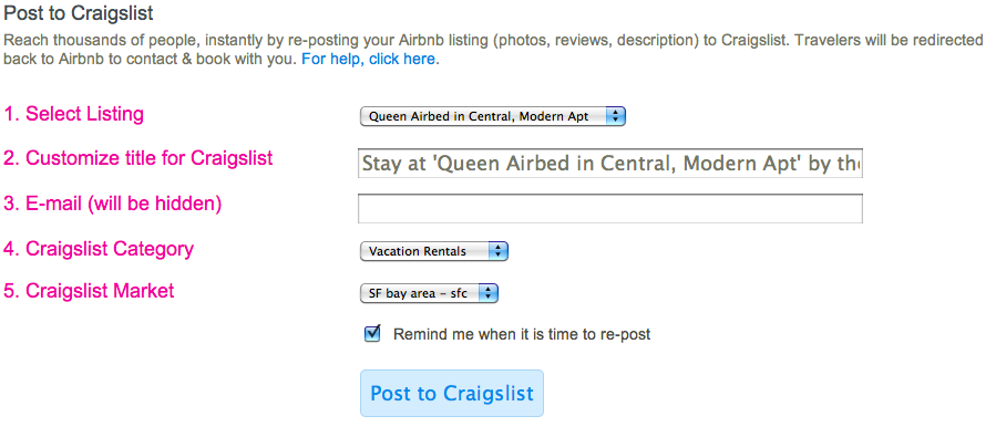 Airbnb crossuje Craigslist