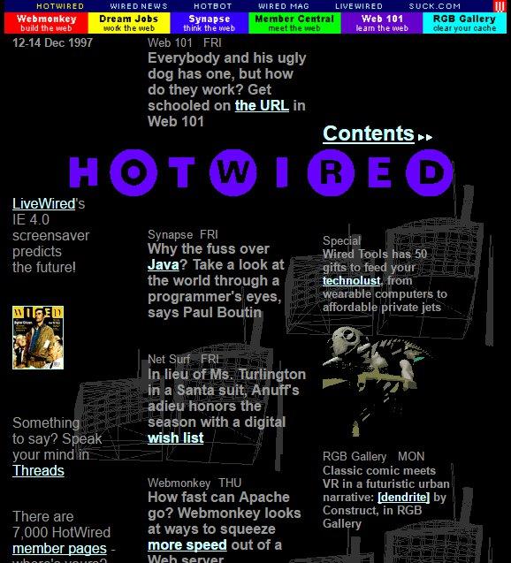 Internet lat 90. na jednym obrazku